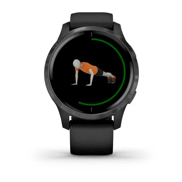 Relógio GPS c/ Monitor Cardíaco no Pulso Garmin VENU Preto AMOLED  - TREINIT