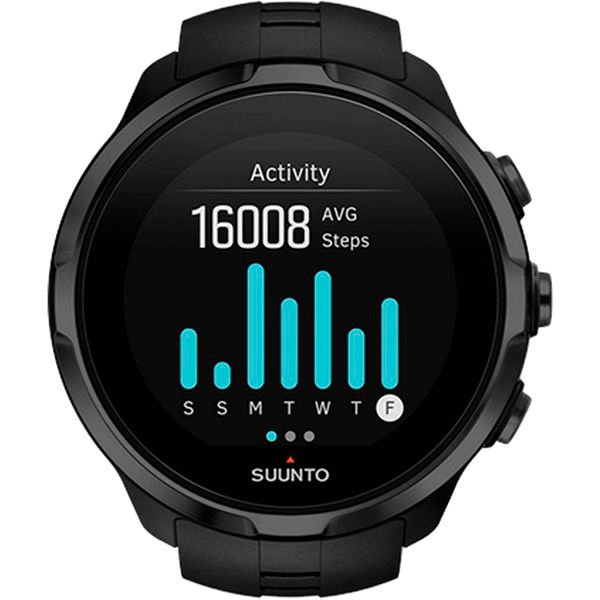 Relógio GPS c/ Monitor Cardíaco no Pulso Suunto Spartan Sport Black  - Treinit