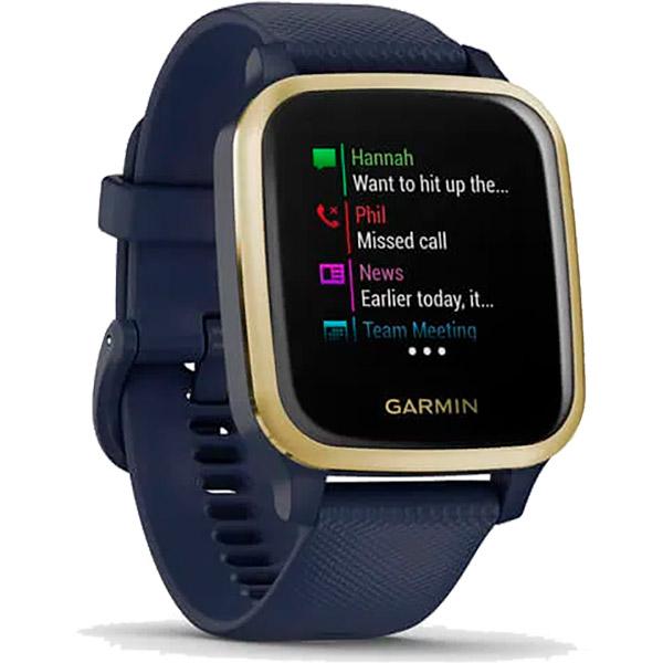 Relógio GPS c/ Monitor Cardíaco Pulso Garmin VENU SQ Music Azul  - TREINIT
