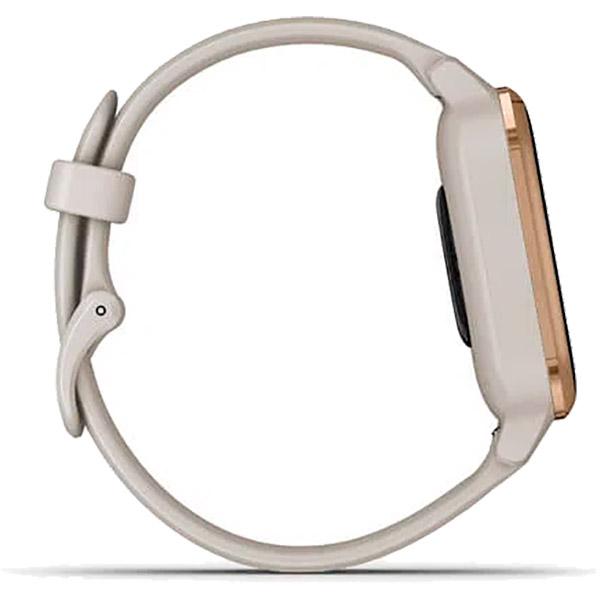 Relógio GPS c/ Monitor Cardíaco Pulso Garmin VENU SQ Music Bege  - TREINIT