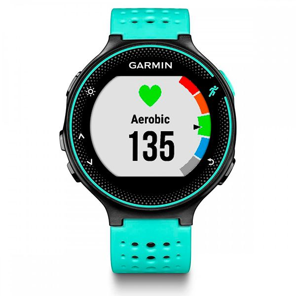 Relógio GPS Frequencímetro de Pulso Garmin Forerunner 235 Azul Gelo/Preto  - Loja Prime