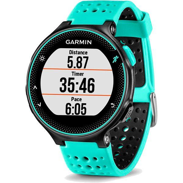 Relógio GPS Frequencímetro de Pulso Garmin Forerunner 235 Azul Gelo/Preto + Braçadeira Celular  - Loja Prime