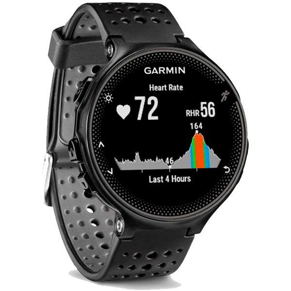 Relógio GPS Frequencímetro de Pulso Garmin Forerunner 235 Preto/Cinza  - Treinit