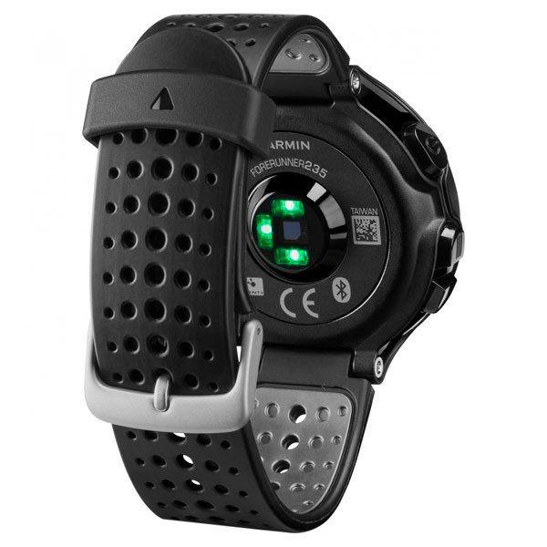 Relógio GPS Frequencímetro de Pulso Garmin Forerunner 235 Preto/Cinza + Braçadeira Celular  - Loja Prime