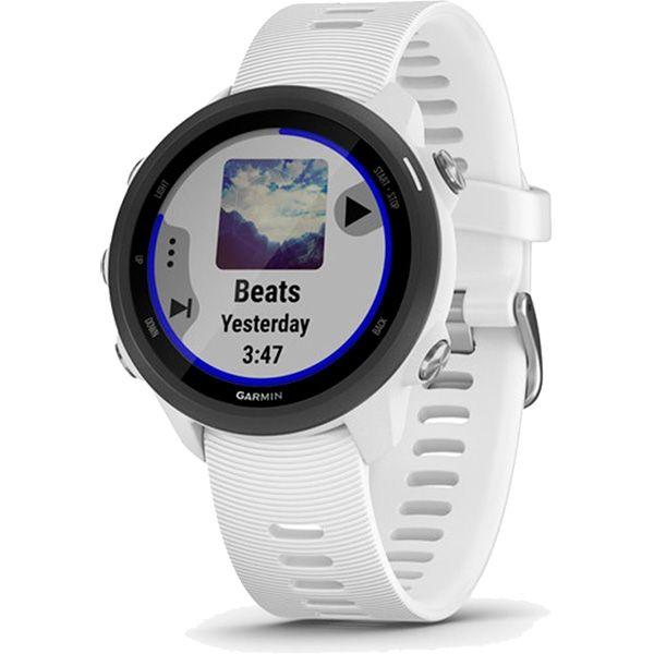 Relógio GPS Frequencímetro de Pulso Garmin Forerunner 245 Music Branco/Preto  - TREINIT