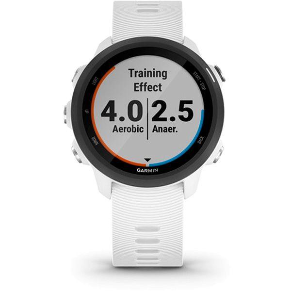 Relógio GPS Frequencímetro de Pulso Garmin Forerunner 245 Music Branco/Preto  - Loja Prime