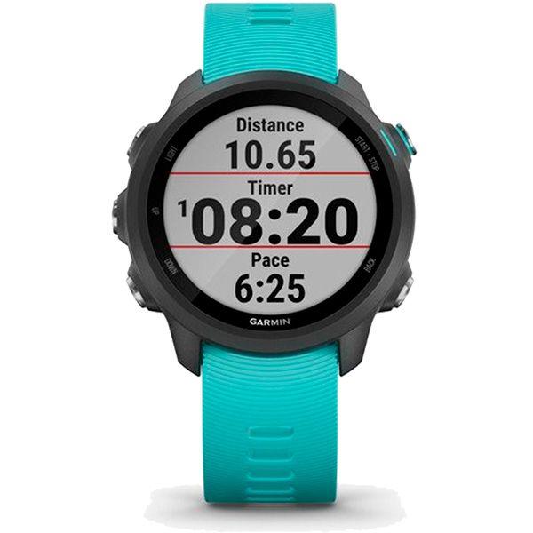 Relógio GPS Frequencímetro de Pulso Garmin Forerunner 245 Music Preto/Aqua  - Loja Prime