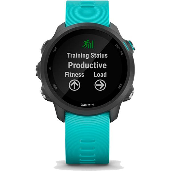 Relógio GPS Frequencímetro de Pulso Garmin Forerunner 245 Music Preto/Aqua  - TREINIT