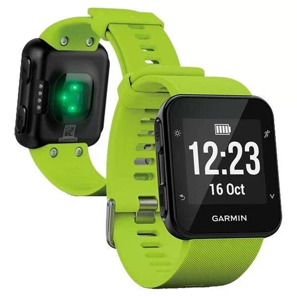 Relógio GPS Frequencímetro de Pulso Garmin Forerunner 35 Verde  - TREINIT