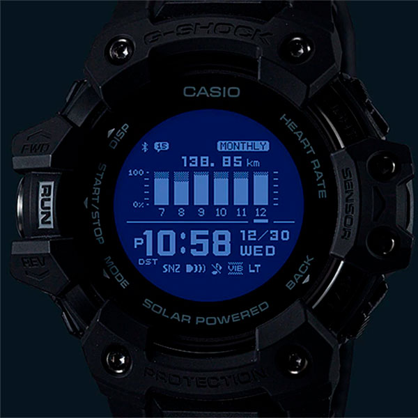 Relógio GPS Monitor Cardíaco de Pulso G-SHOCK Squad GBD-H1000-1DR  - TREINIT