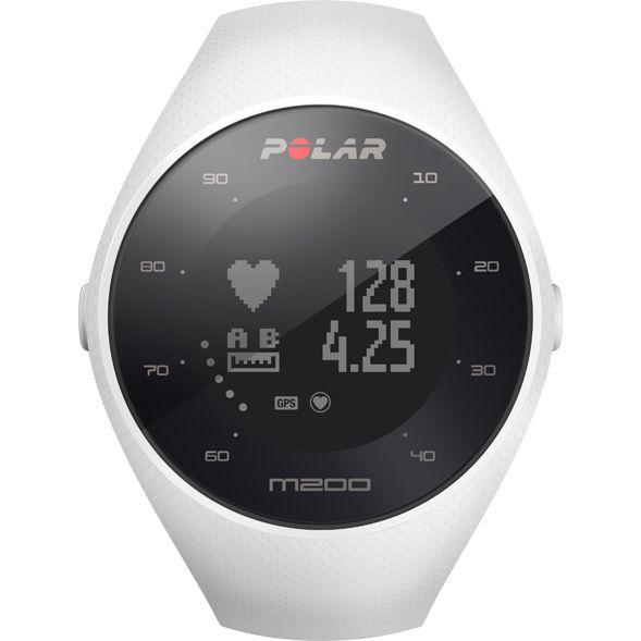 Relógio GPS Monitor Cardíaco de Pulso Polar M200 Branco  - TREINIT