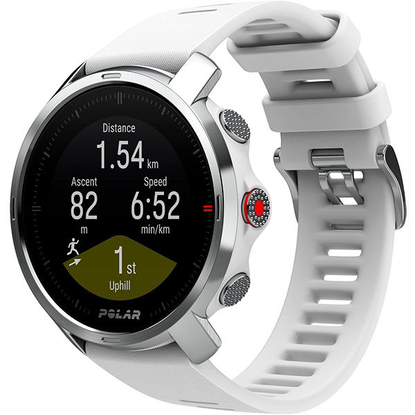 Relógio GPS Multiesportes Monitor Cardíaco de Pulso Polar GRIT X Branco  - TREINIT