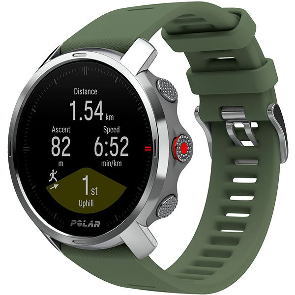 Relógio GPS Multiesportes Monitor Cardíaco de Pulso Polar GRIT X Verde  - Treinit
