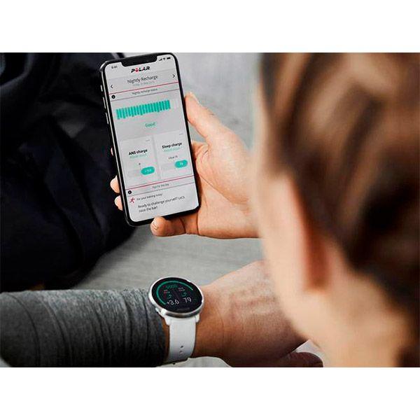 Relógio GPS Multiesportes Monitor Cardíaco de Pulso Polar Ignite Branco  - TREINIT