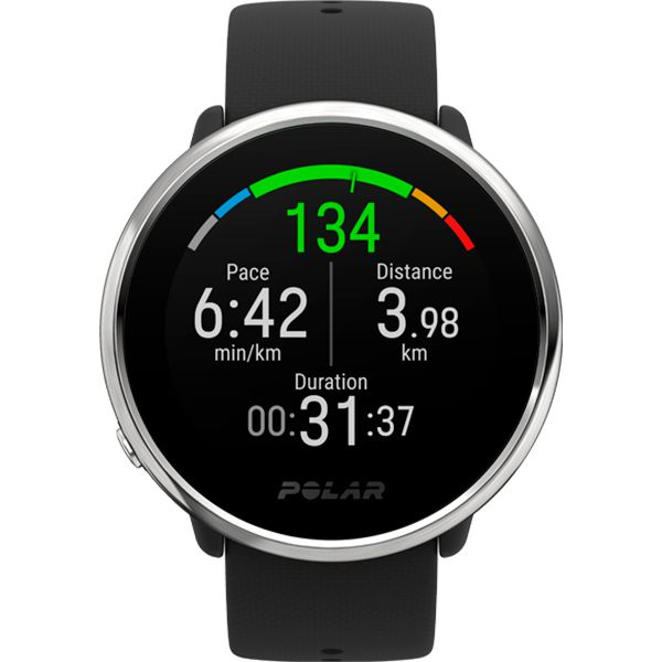Relógio GPS Multiesportes Monitor Cardíaco de Pulso Polar Ignite Preto  - TREINIT