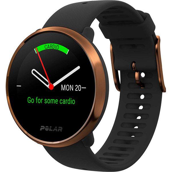 Relógio GPS Multiesportes Monitor Cardíaco de Pulso Polar Ignite Preto e Cobre  - Loja Prime