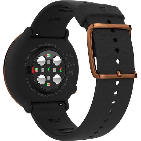 Relógio GPS Multiesportes Monitor Cardíaco de Pulso Polar Ignite Preto e Cobre  - TREINIT