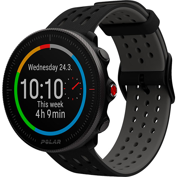 Relógio GPS Multiesportes Monitor Cardíaco de Pulso Polar Vantage M2 Preto/Cinza  - TREINIT