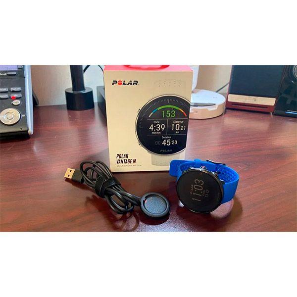 Relógio GPS Multiesportes Monitor Cardíaco de Pulso Polar Vantage M Azul  - Loja Prime