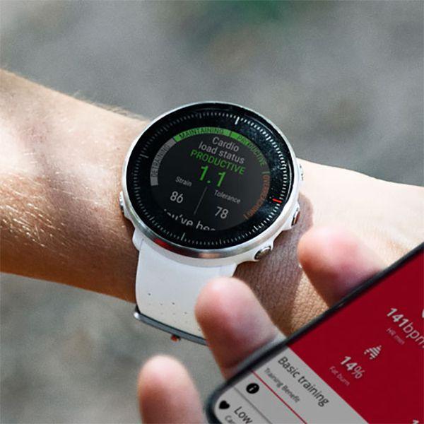 Relógio GPS Multiesportes Monitor Cardíaco de Pulso Polar Vantage M Branco  - TREINIT