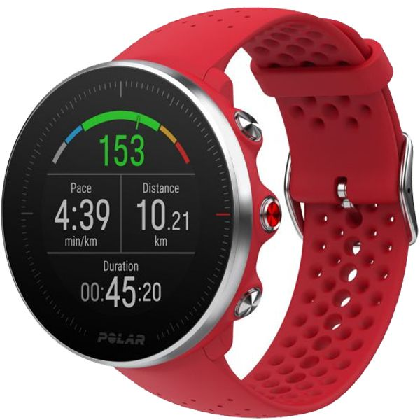 Relógio GPS Multiesportes Monitor Cardíaco de Pulso Polar Vantage M Vermelho  - Treinit