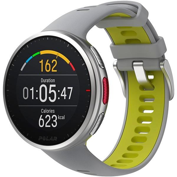 Relógio GPS Multiesportes Monitor Cardíaco de Pulso Polar Vantage V2 Cinza e Verde-limão  - TREINIT