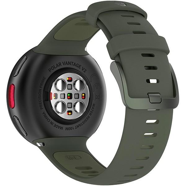 Relógio GPS Multiesportes Monitor Cardíaco de Pulso Polar Vantage V2 Preto e Verde  - TREINIT