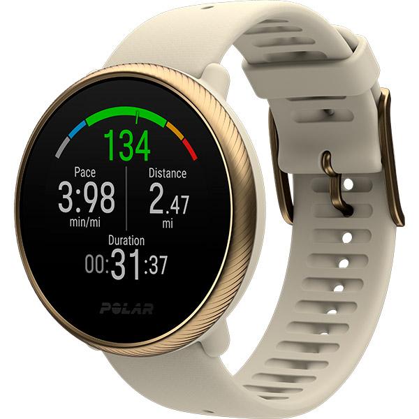 Relógio GPS Multiesportes Monitor Cardíaco Polar Ignite 2 Dourado Champagne  - TREINIT