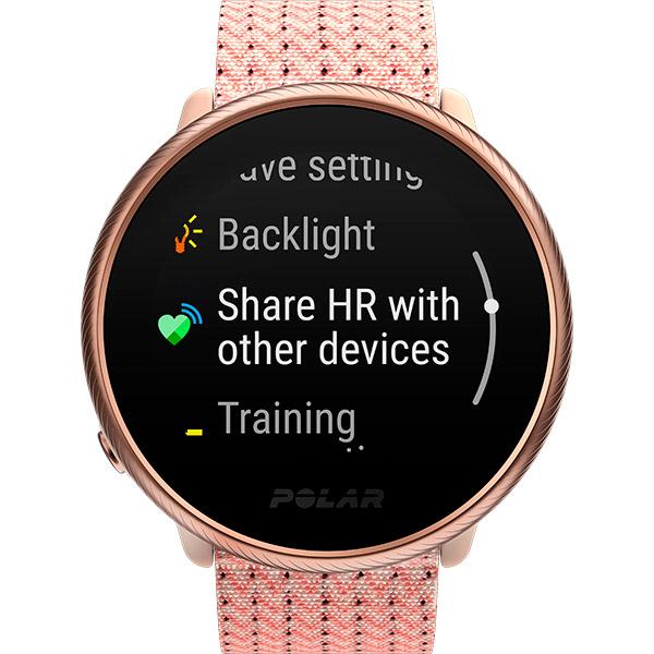 Relógio GPS Multiesportes Monitor Cardíaco Polar Ignite 2 Rosa e Rose Gold  - TREINIT