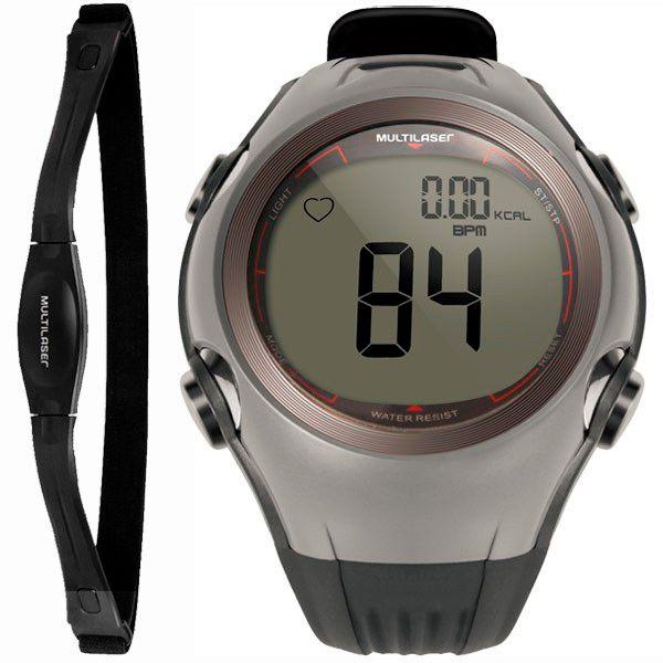 Relógio Monitor Cardíaco Multilaser HC008 ALTIUS Calorias / Frequencímetro + Brinde  - TREINIT