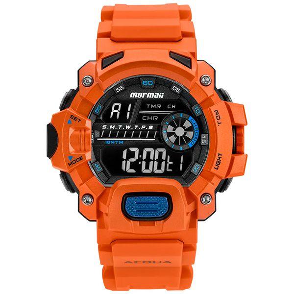 Relógio Mormaii Acquaforce MOZM1132/8L Laranja   - Loja Prime