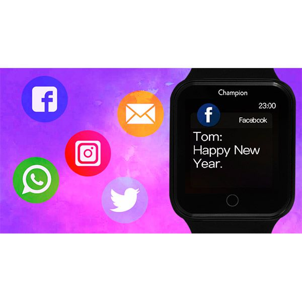 Relógio Smartwatch Champion CH50006T Bluetooth  - TREINIT