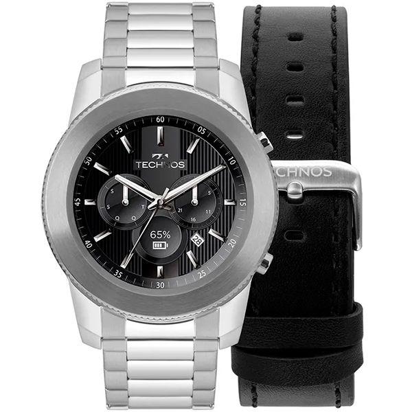 Relógio Smartwatch Technos Connect Plus M1AA/1P Prata  - TREINIT