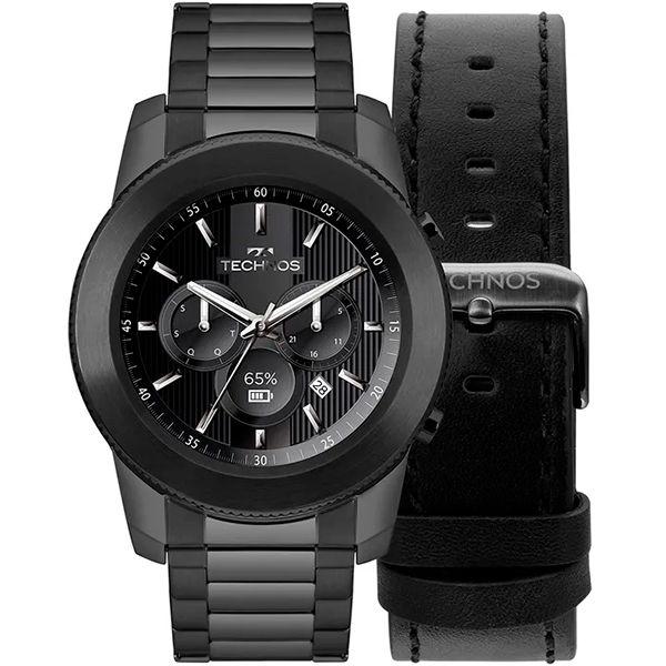 Relógio Smartwatch Technos Connect Plus M1AB/4P Preto  - Treinit