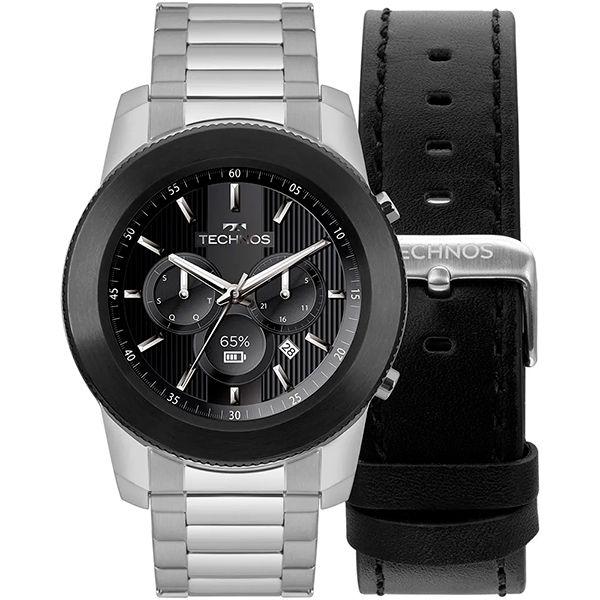 Relógio Smartwatch Technos Connect Plus M1AC/5P Prata  - TREINIT