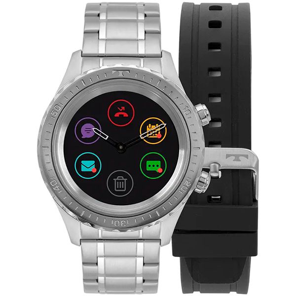 Relógio Smartwatch Technos Connect Plus P01AA/1P Prata  - TREINIT