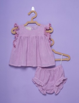CONJUNTO CAMEL BORDADO ROSE