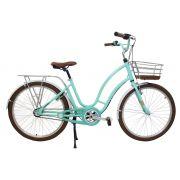 Bicicleta aro 26 Vintage Antonella Verde Acqua Nathor