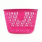 Cestinha rosa escuro para bicicleta Aro 20 Nathor