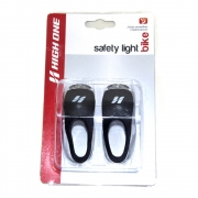 VISTA LIGHT DIANT/TRAS 2 LED SILICON C/VISOR ACRILICO PTO Ref: HOLUZ0018  HIGH ONE