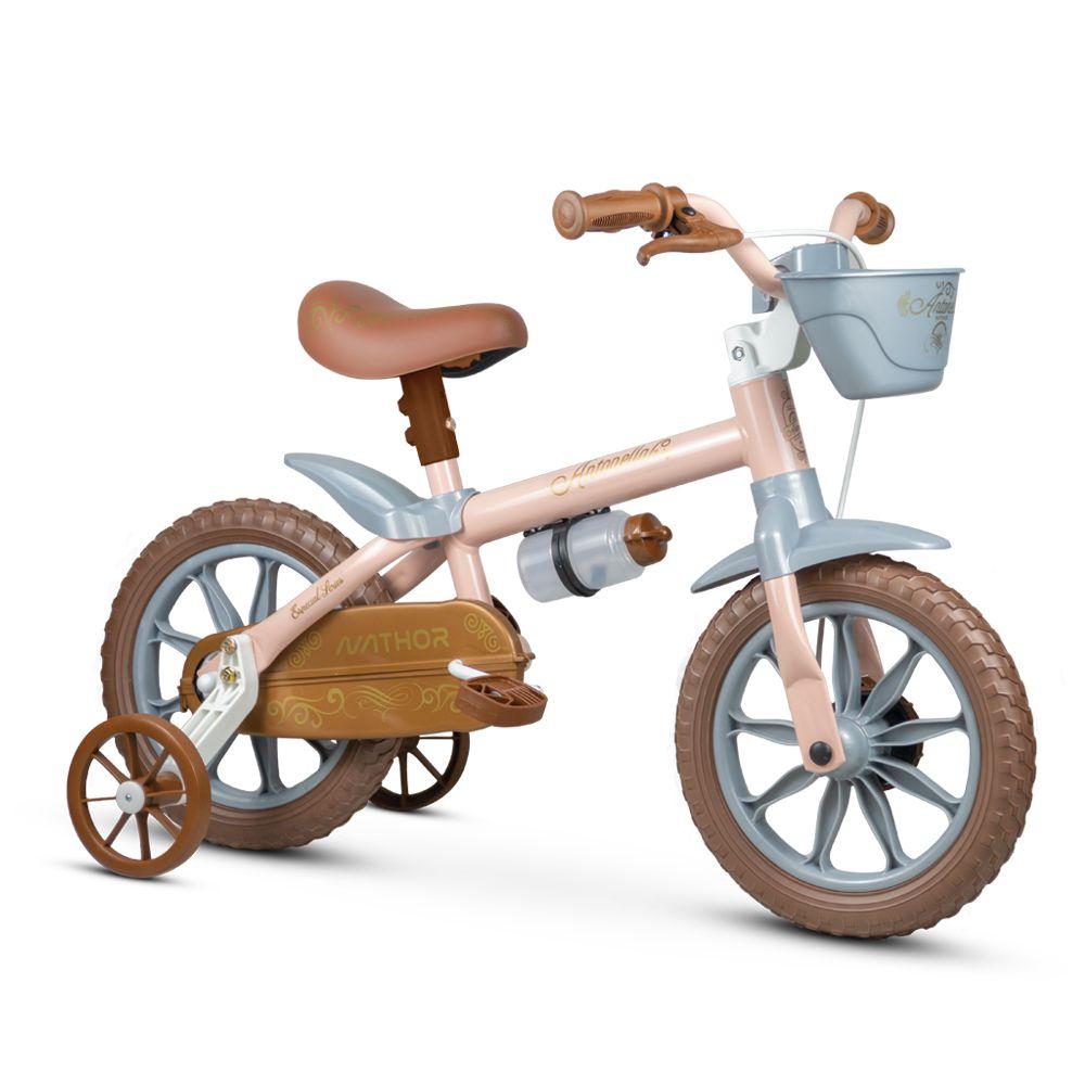 Bicicleta aro 12 Antonella Baby Rosa Nathor
