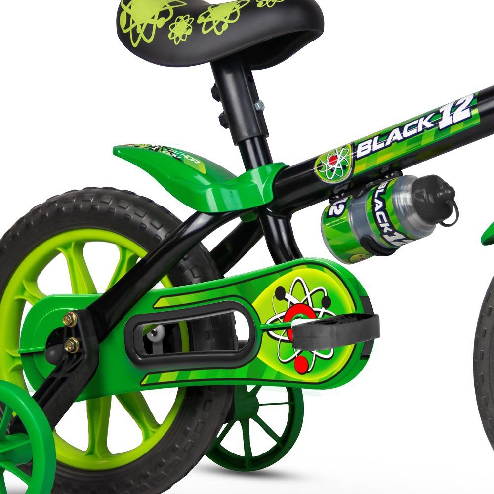 Bicicleta aro 12 Black Selim PU 2 Nathor