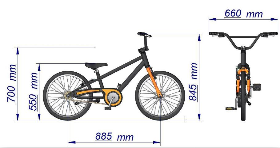 Bicicleta aro 20 Antonella Verde Acqua Nathor
