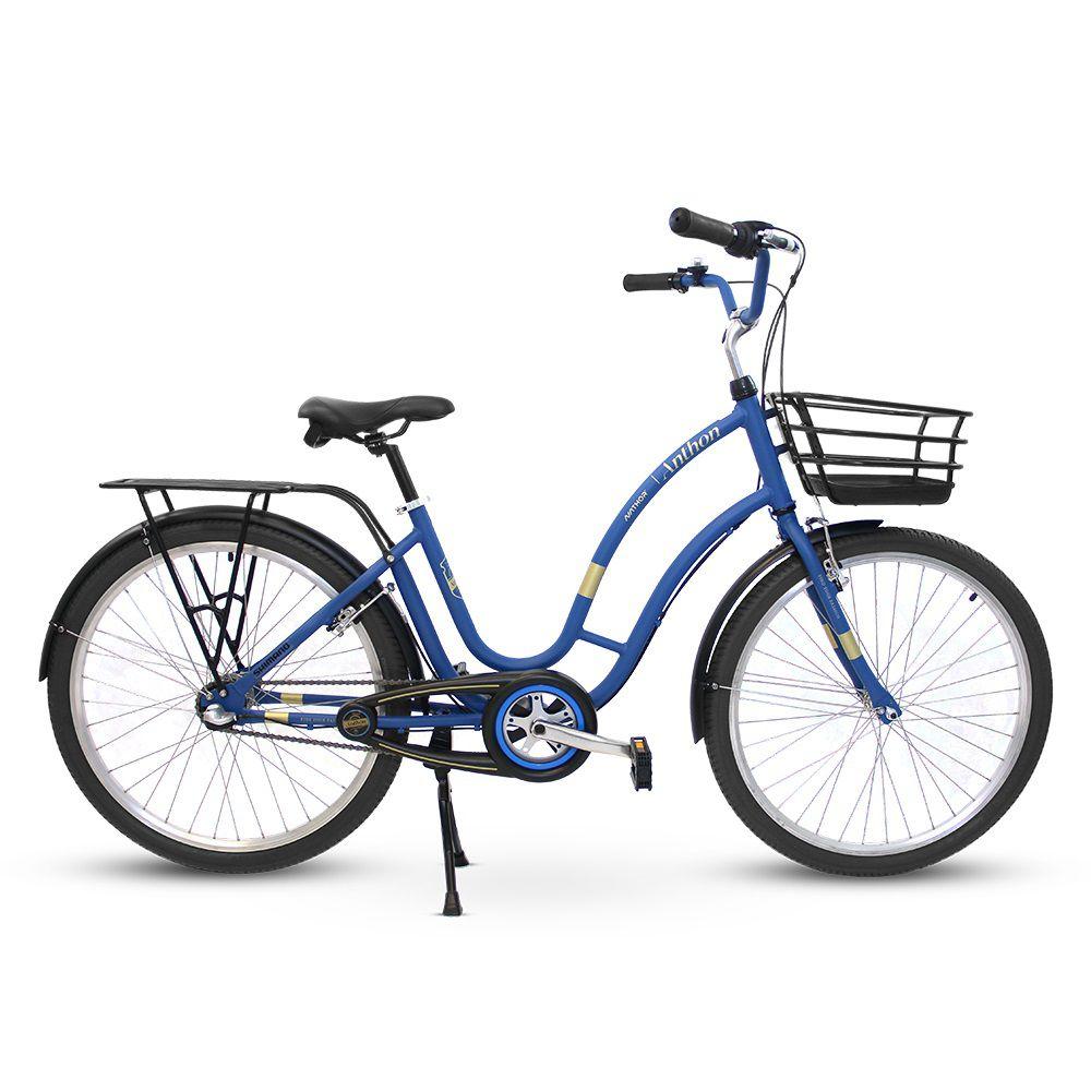 Bicicleta aro 26 Vintage Anthon Azul Nathor