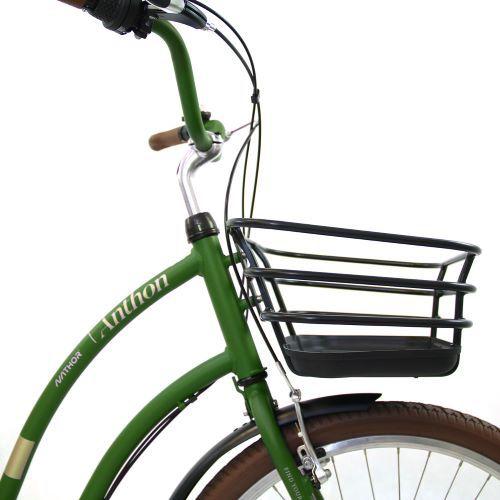 Bicicleta aro 26 Vintage Anthon Verde Militar Nathor