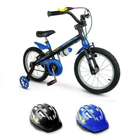 Kit Bicicleta Aro 16 Apollo 2 + Capacete Infantil Nathor