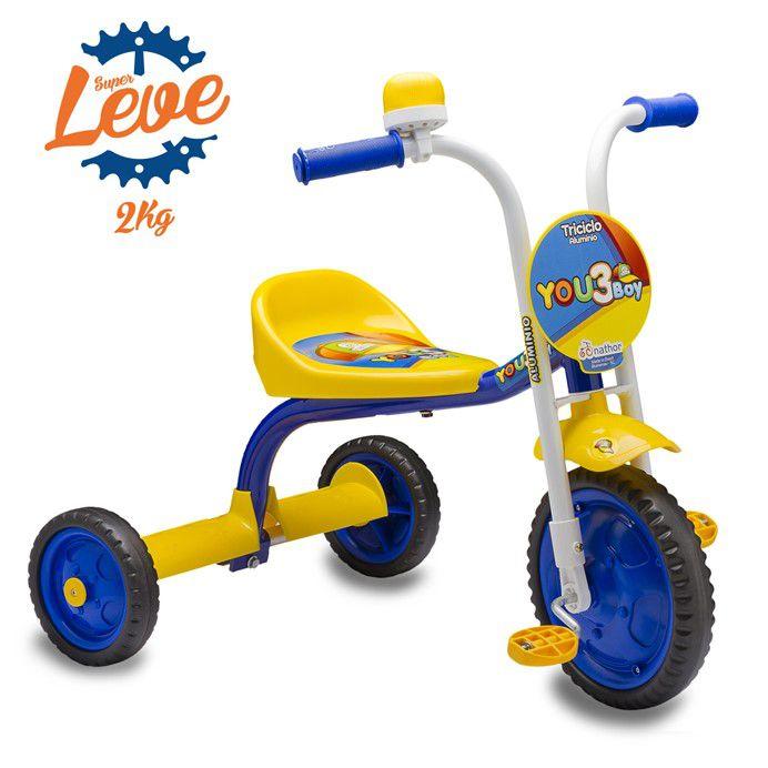 24b67d9a03 Triciclo Infantil You 3 Boy Nathor - Pratti bikes