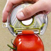 Descascador de legumes e frutas circular 3 lâminas