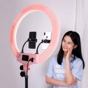 Iluminador Ring Light Anel Luz 45cm Com Tripé