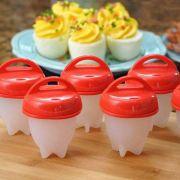 Kit de 6 Formas de Silicone Para Cozinhar Ovos